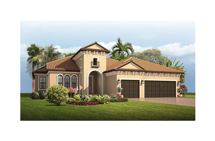 Dolcetto Renderings - Italian Villa Elevation - 3,233 sqft, 4 Bedroom, 3 Bathroom - Cardel Homes Tampa