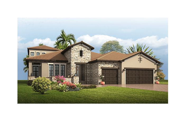 Dolcetto 2 - Tuscan Elevation - 3,792 sqft, 4 Bedroom, 3.5 Bathroom - Cardel Homes Tampa