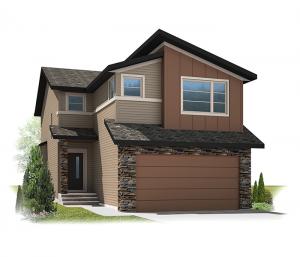 Orleans 3 - Eichler F1 Elevation - 2,014 sqft, 3 Bedroom, 2.5 Bathroom - Cardel Homes Calgary