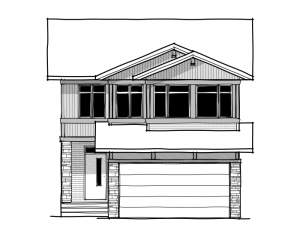 Tandem Bay 2 - Eichler F2 Elevation - 2,368 sqft, 4 Bedroom, 2.5 Bathroom - Cardel Homes Calgary