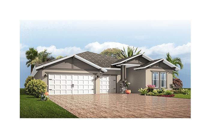 Endeavor 3 - Craftsman Elevation - 2,500 - 3,108 sqft, 4 - 5 Bedroom, 3 - 4 Bathroom - Cardel Homes Tampa
