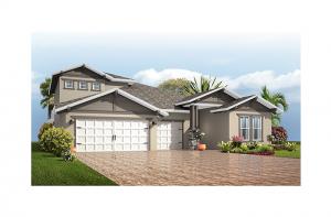 Endeavor 3 - Craftsman with Option #5 Elevation - 2,500 - 3,108 sqft, 4 - 5 Bedroom, 3 - 4 Bathroom - Cardel Homes Tampa