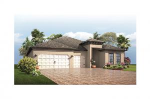 Endeavor 3 - Mediterranean Elevation - 2,500 - 3,108 sqft, 4 - 5 Bedroom, 3 - 4 Bathroom - Cardel Homes Tampa