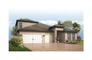 Endeavor 3 - Mediterranean with Option #5 Elevation - 2,500 - 3,108 sqft, 4 - 5 Bedroom, 3 - 4 Bathroom - Cardel Homes Tampa