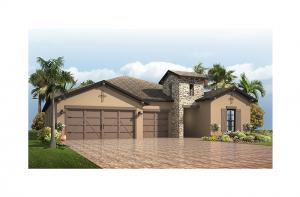 Endeavor 3 - Tuscan Elevation - 2,500 - 3,108 sqft, 4 - 5 Bedroom, 3 - 4 Bathroom - Cardel Homes Tampa