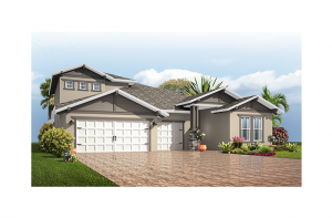 Endeavor 3 FHR - Craftsman with Option #5 Elevation - 2,500 - 3,108 sqft, 4 - 5 Bedroom, 3 - 4 Bathroom - Cardel Homes Tampa
