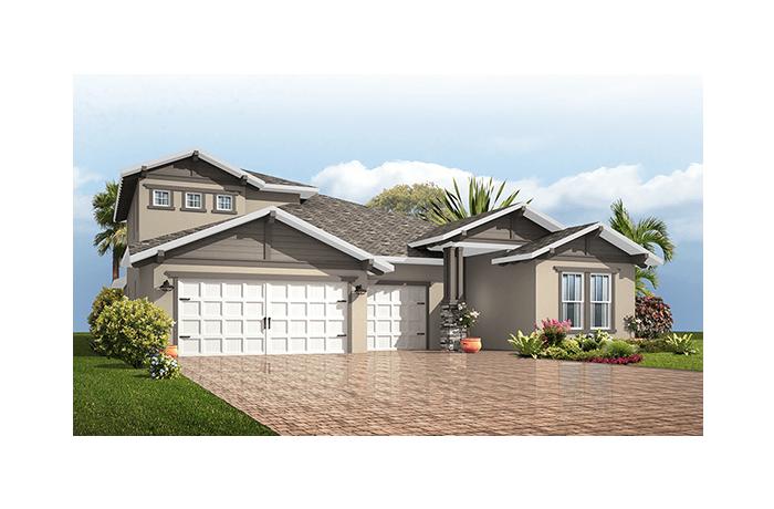 Endeavor 3 FHR - Craftsman with Option #5 Elevation - 3,108 sqft, 4 - 5 Bedroom, 3 - 4 Bathroom - Cardel Homes Tampa