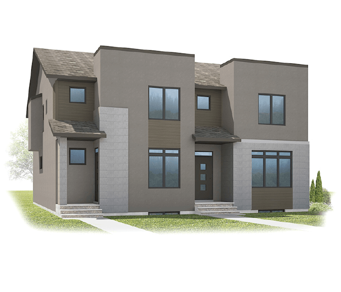 Tresco - Tresco B Elevation - 1,856 sqft, 3 Bedroom, 2.5 Bathroom - Cardel Homes Calgary