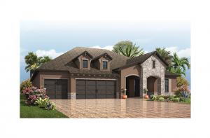 St. Lucia - European Cottage Elevation - 3,336 sqft, 4 - 5 Bedroom, 3 Bathroom - Cardel Homes Tampa