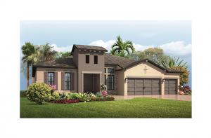 Grand Cayman - Tuscan Elevation - 3,032 - 3,432  sqft, 4 - 5 Bedroom, 3 - 4 Bathroom - Cardel Homes Tampa