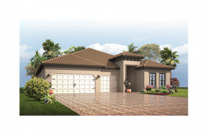 Endeavor 3 CCE - Mediterranean Elevation - 2,500 - 3,108 sqft, 3 - 5 Bedroom, 3 - 4 Bathroom - Cardel Homes Tampa