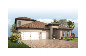 Endeavor 3 CCE - Mediterranean with Option #5 Elevation - 2,500 - 3,108 sqft, 3 - 5 Bedroom, 3 - 4 Bathroom - Cardel Homes Tampa