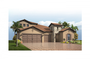 Endeavor 3 CCE - Tuscan with Option #5 Elevation - 2,500 - 3,108 sqft, 3 - 5 Bedroom, 3 - 4 Bathroom - Cardel Homes Tampa