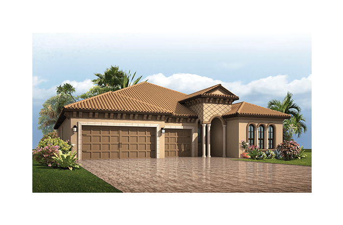 Endeavor 3 CCE - Italian Villa Elevation - 2,500 - 3,108 sqft, 3 - 5 Bedroom, 3 - 4 Bathroom - Cardel Homes Tampa