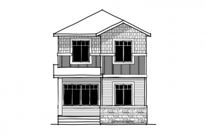 Denim - Modern Prairie F1 Elevation - 1,538 sqft, 3 Bedroom, 2.5 Bathroom - Cardel Homes Calgary