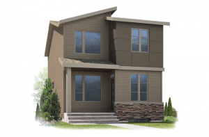 Denim - Eichler F2 Elevation - 1,538 sqft, 3 Bedroom, 2.5 Bathroom - Cardel Homes Calgary