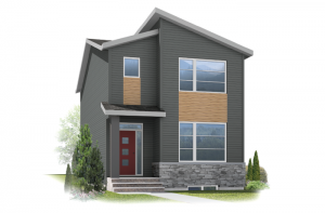 Hadlow - Eichler F1 Elevation - 1,499 sqft, 3 Bedroom, 2.5 Bathroom - Cardel Homes Calgary