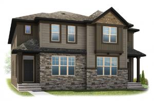 Solstice A+B - Arts and Craft Elevation - 1,883 sqft, 3 Bedroom, 2.5 Bathroom - Cardel Homes Calgary