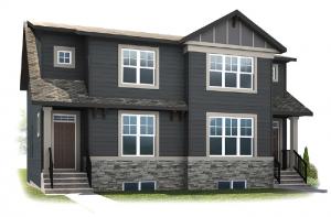 Solstice A+B - Craftsman Elevation - 1,883 sqft, 3 Bedroom, 2.5 Bathroom - Cardel Homes Calgary