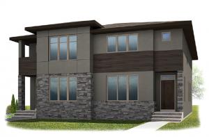 Solstice A+B - Urban Elevation - 1,883 sqft, 3 Bedroom, 2.5 Bathroom - Cardel Homes Calgary
