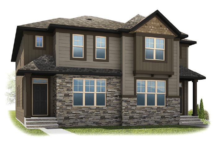 Solstice A+C - Arts and Craft Elevation - 1,883 sqft, 3 Bedroom, 2.5 Bathroom - Cardel Homes Calgary