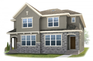 Solstice D+B - French Elevation - 1,883 sqft, 3 Bedroom, 2.5 Bathroom - Cardel Homes Calgary