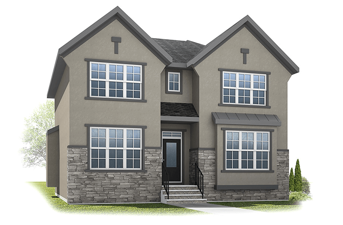 Vincent - French Country A Elevation - 2,696 sqft, 3 Bedroom, 2.5 Bathroom - Cardel Homes Calgary