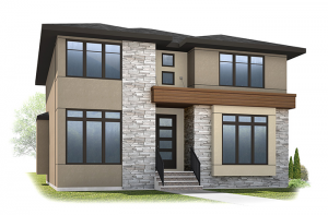 Vincent - Urban B Elevation - 2,696 sqft, 3 Bedroom, 2.5 Bathroom - Cardel Homes Calgary