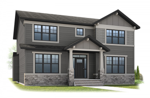 Lex - Craftsman A Elevation - 2,827 sqft, 3 Bedroom, 2.5 Bathroom - Cardel Homes Calgary