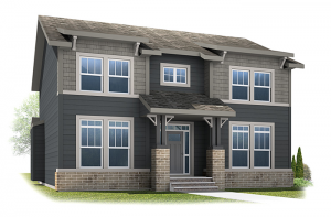 Lex - Arts & Crafts B Elevation - 2,827 sqft, 3 Bedroom, 2.5 Bathroom - Cardel Homes Calgary