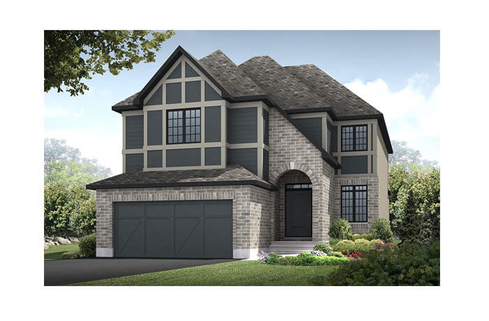 Middleton - R7 English Heritage Elevation - 2,580 sqft, 4 Bedroom, 2.5 Bathroom - Cardel Homes Ottawa