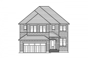 Middleton - R6 European Manor Elevation - 2,580 sqft, 4 Bedroom, 2.5 Bathroom - Cardel Homes Ottawa