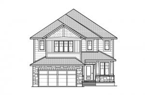 Middleton - R8 Canadiana Elevation - 2,580 sqft, 4 Bedroom, 2.5 Bathroom - Cardel Homes Ottawa
