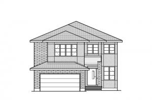 Middleton - R9 Modern Prairie Elevation - 2,580 sqft, 4 Bedroom, 2.5 Bathroom - Cardel Homes Ottawa