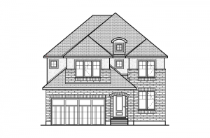 Miraval 2 - R6 European Manor Elevation - 2,778 sqft, 4 Bedroom, 2.5 Bathroom - Cardel Homes Ottawa