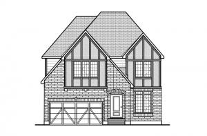 Miraval 2 - R7 English Heritage Elevation - 2,778 sqft, 4 Bedroom, 2.5 Bathroom - Cardel Homes Ottawa