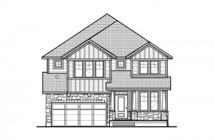 Miraval 2 - R8 Canadiana Elevation - 2,778 sqft, 4 Bedroom, 2.5 Bathroom - Cardel Homes Ottawa