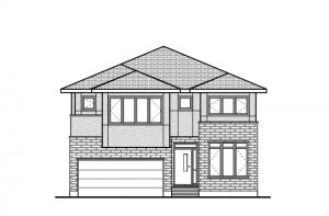 Miraval 2 - R9 Modern Prairie Elevation - 2,778 sqft, 4 Bedroom, 2.5 Bathroom - Cardel Homes Ottawa