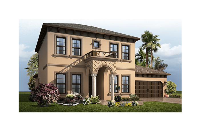 Avalon 2 CW - Italianate Elevation - 2,753 - 3,350 sqft, 3 - 6 Bedroom, 2.5 - 4 Bathroom - Cardel Homes Tampa
