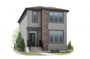 Hadlow - Modern Prairie F4 Elevation - 1,499 sqft, 3 Bedroom, 2.5 Bathroom - Cardel Homes Calgary