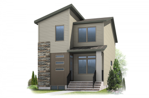 Denim - Eichler F3 Elevation - 1,538 sqft, 3 Bedroom, 2.5 Bathroom - Cardel Homes Calgary