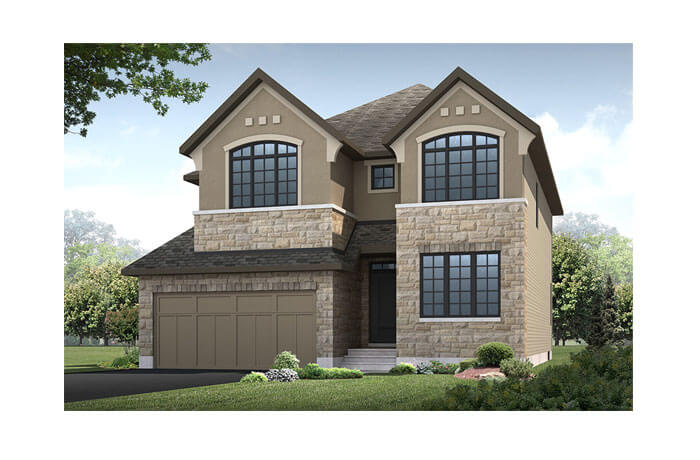 Miraval 2 - R5 Chateau Elevation - 2,778 sqft, 4 Bedroom, 2.5 Bathroom - Cardel Homes Ottawa