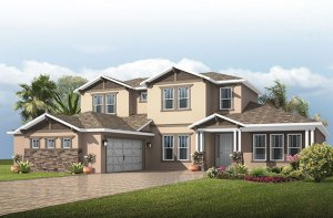 Bonaire - Craftsman Elevation - 3,756 - 3,897 sqft, 4 - 5 Bedroom, 2.5 - 3.5 Bathroom - Cardel Homes Tampa