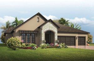 Antigua - European Cottage Elevation - 3,547 - 3,551 sqft, 4 - 5 Bedroom, 3 Bathroom - Cardel Homes Tampa