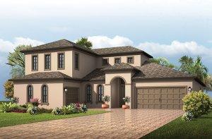 Montego - Italian Villa Elevation - 3,800 sqft, 4 - 5 Bedroom, 4.5 - 5 Bathroom - Cardel Homes Tampa