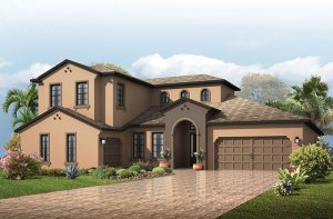 Montego - Mediterranean Elevation - 3,800 sqft, 4 - 5 Bedroom, 4.5 - 5 Bathroom - Cardel Homes Tampa