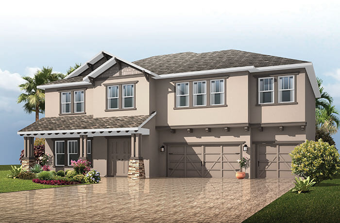 Martinique - Craftsman Elevation - 3,498 - 3,834 sqft, 4 - 6 Bedroom, 3 - 4 Bathroom - Cardel Homes Tampa