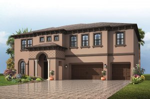 Martinique - Italian Villa Elevation - 3,498 - 3,834 sqft, 4 - 6 Bedroom, 3 - 4 Bathroom - Cardel Homes Tampa