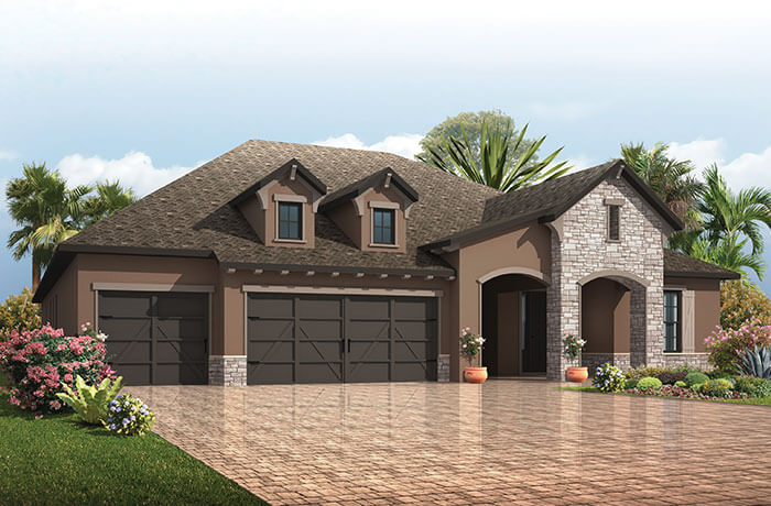 New home in ST. LUCIA in Waterset, 3,336 SQFT, 4 - 5 Bedroom, 3 Bath, Starting at 449,990 - Cardel Homes Tampa