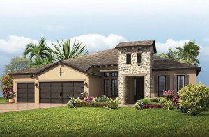 St. Lucia - Tuscan Elevation - 3,336 sqft, 4 - 5 Bedroom, 3 Bathroom - Cardel Homes Tampa